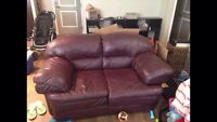 Real Leather Couch ***must sell fast***