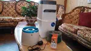 Abreuvoir avec filtre, poubelle pour litière