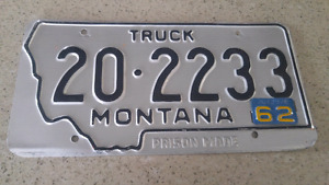 Montana plate with rare year tags