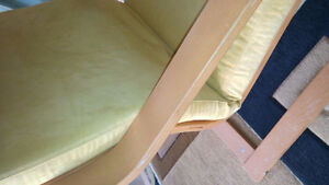 Ikea Poang Chair Cover - Yellow Sude Kitchener / Waterloo Kitchener Area image 2