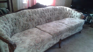 Antique sofa and chair.