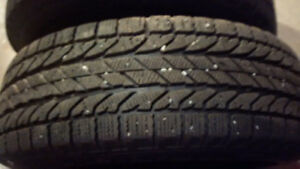 215/70R15 BF Goodrich Winter Slalom Tires with Rims