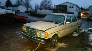 Parting out 1984 Mercedes 300D