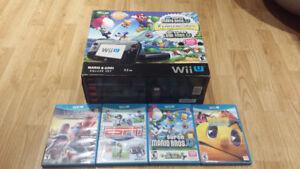 GREAT Nintendo Wii U Bundle 5 Games all Cords Controller MARIO!