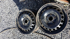 Four Steel AUDI Rims  $80 for all