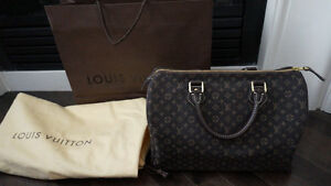 AUTHENTIC LOUIS VUITTON MINI LIN SPEEDY 30 - NEW CONDITION