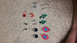 9 pairs of fashion earrings