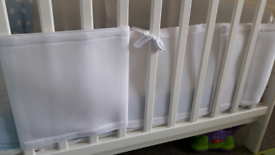Cotbed protector bumpers 2 White.