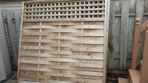 """Panneau de clôture en bois traité 60'' X60"""""""