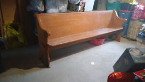 Approx 8 ft long old church pew