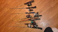 ice fishing rodes and reels