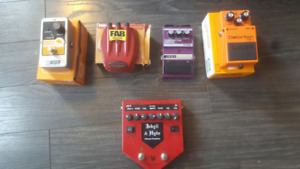 Guitar Pedal Lot for sale!!