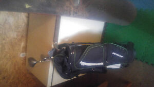 Dunlop and nike clubs with bag