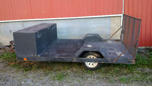 ATV Trailer with ramp and storage box