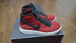 Nike Air Force 1 Mid Flyknit - Red/White