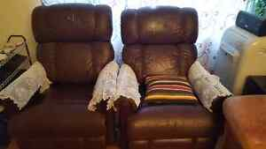 Two recliner chairs for sale