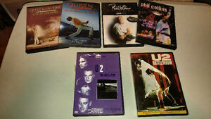 lot de 6 dvd de musique,lot de cd,DVD 24h,DVD Heroes,Vhs ombre