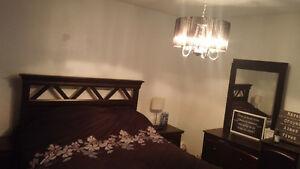 set de chambre lit commode table de chevet
