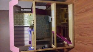 Doll house and furniture.