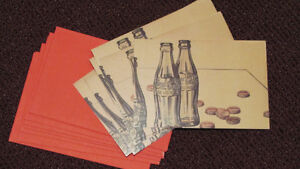 REDUCED - set of 8 Coca-Cola note cards