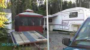 5th wheel on large leased lot at Candle Lake