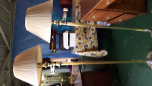 2 brass lamps