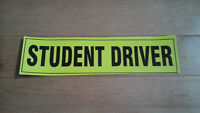 'STUDENT DRIVER' Magnetic Bumper Stickers