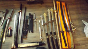 Martial arts knife and sword collection