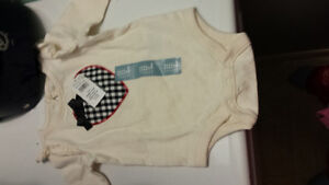 NWT 0-3 months Gap long sleeved onsie