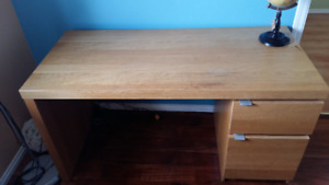 IKEA MALM Oak Desk