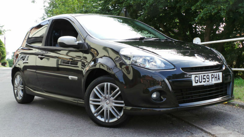 2009 59 renault clio gt 1 5 dci 106 bhp turbo diesel metallic black 3 door in halesworth. Black Bedroom Furniture Sets. Home Design Ideas