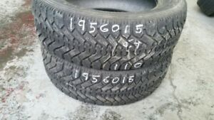 Pair of 2 Goodyear Nordic 195/60R15 WINTER tires (55% tread life
