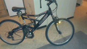 21-speed dual suspension Raleigh 26 in
