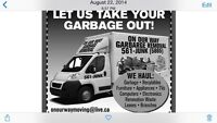 We haul garbage residential and commercial