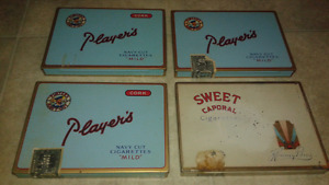 4 players cig tobacco tins vintage mint condition