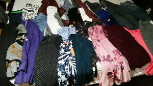 Mixture of women's clothes