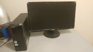 Acer Desktop computer with 22' LCD monitor