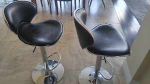 Two bar stools, good condition, adjustable height