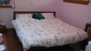 Kingsize Bed Frame and Foam Mattress with king sized sheets