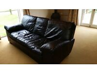 Sofa real leather 3 seater