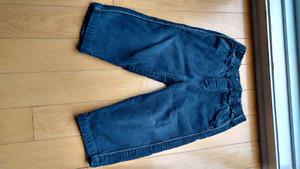 Pantalon corduroy bleu marin, 3t