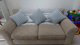 Next oatmeal three seater sofa
