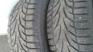 FOUR 215/55R16 WINTERS ON RIMS FOR NISSAN ALTIMA WITH SENSORS TR