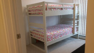 Elegant and Contemporary Chadwick Bunk Bed Twin White