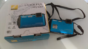 Nikon COOLPIX AW120 Digital Waterproof Camera - BLUE