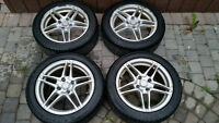 Alloy Rims and Winter Tires - 15'' 4x100 bolt pattern