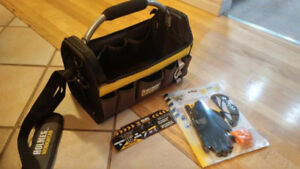 """MIKE HOLMES Top opening great quality 16"""" TOOL BAG AND BONUS"""