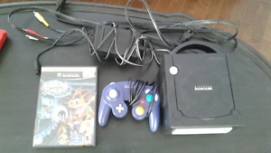 Gamecube with one game and indigo controller