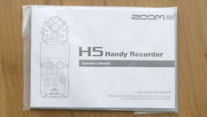 ZOOM H5 MANUAL (BRAND NEW)