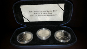 Hockey Hall of Fame induction coin set Limited edition inductees
